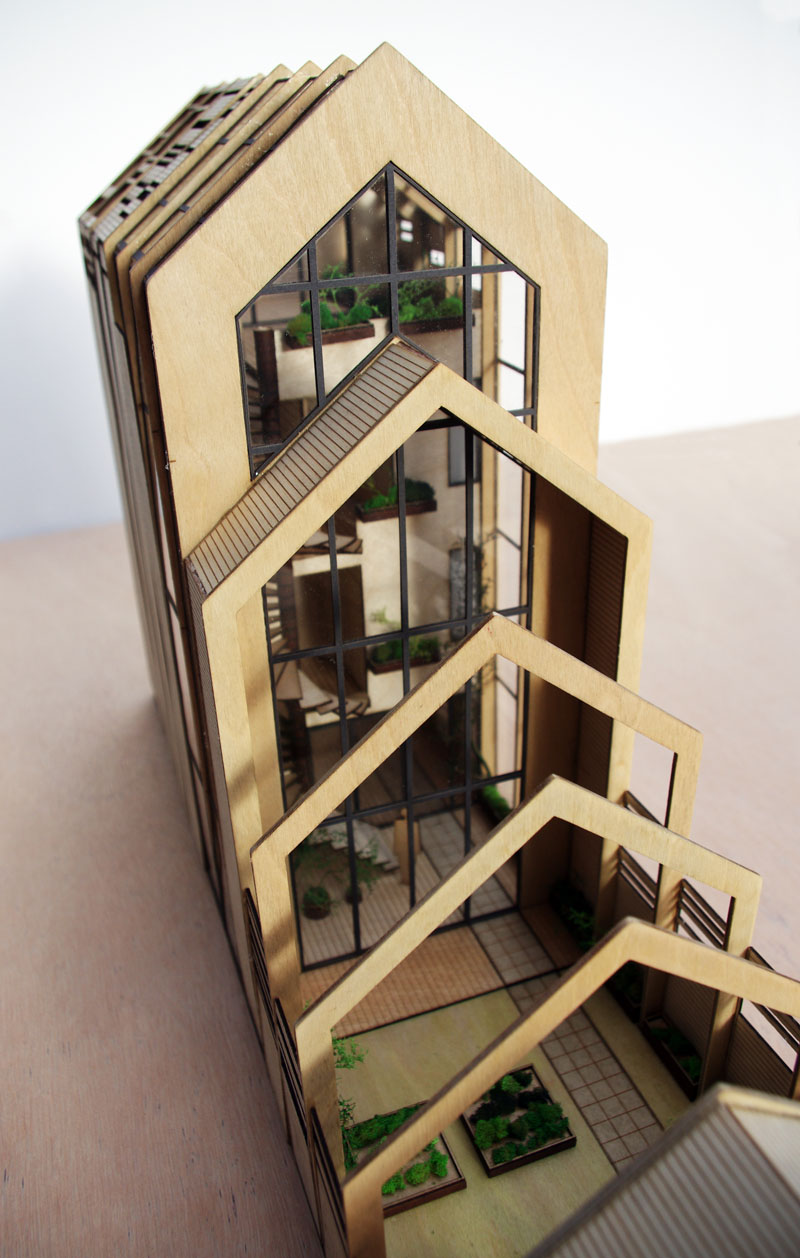 De spanten woningconcept nov 39 82 architecten for Model homes to build